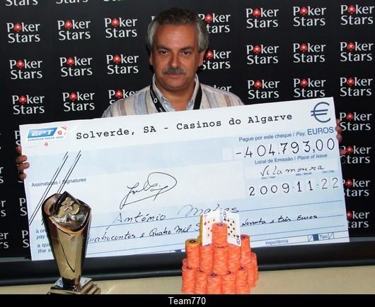 Antonio Matias Champion EPT Vilamoura 2009