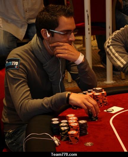 Jamel lors de l'Evian Poker open