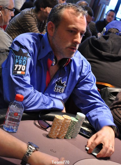 Guillaume est dans les chip leader du side event 1,000 €