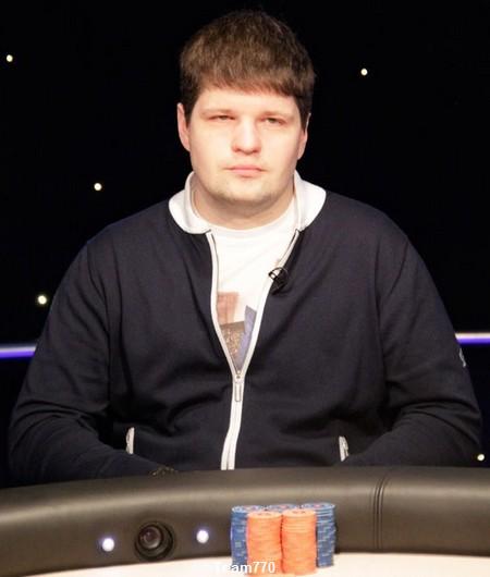 Alexey Rybin éliminé en 5ème place (270,000€)