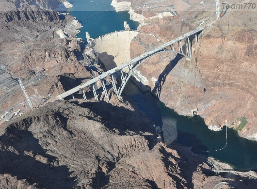 Colorado River et barrage Hoover