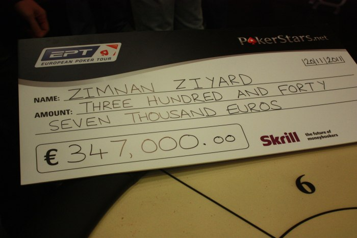 Zimnan Ziyard remporte l'EPT Loutraki